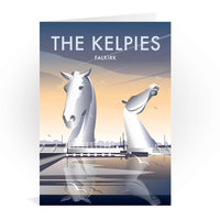 The Kelpies Falkirk Scotland Greetings Card - Dave Thompson