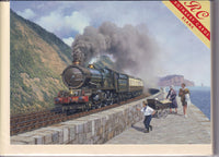 King George V Steam Train Greetings Card - Malcolm Root