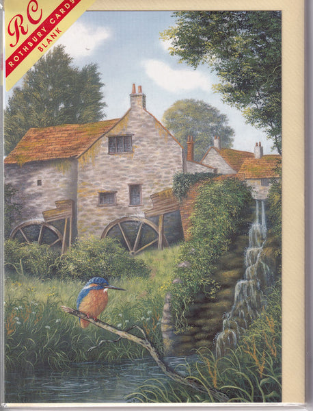 Kingfisher Bird Of The Mill Greetings Card - Alan Fursland
