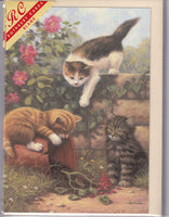 Kittens Playtime Greetings Card - Kevin Walsh