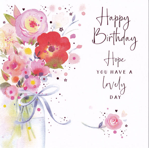 Flowers Bouquet Happy Birthday Card - Nigel Quiney
