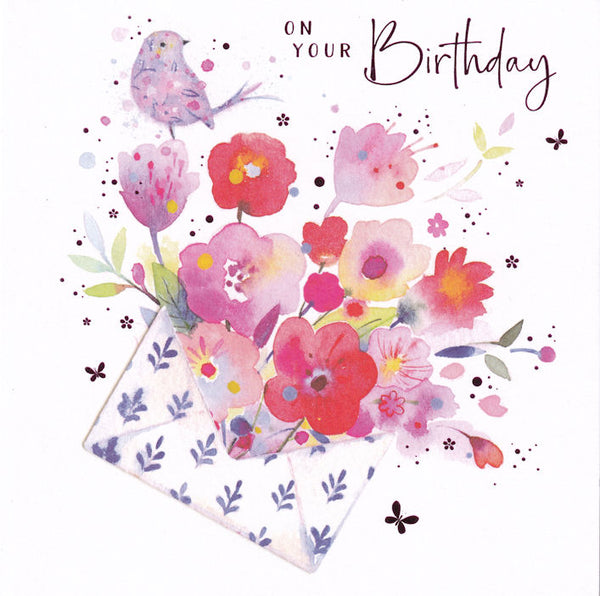 Flowers In Envelope On Your Birthday Card - Nigel Quiney