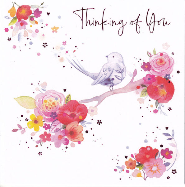 Blossom Bird Thinking Of You Greetings Card - Nigel Quiney
