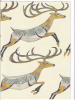 Leaping Reindeer Greetings Card - Daniel Mackie