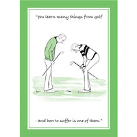 Learn From Golf Greetings Card