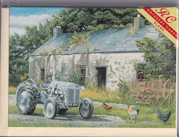 Little Grey Fergie Tractor Greetings Card - Trevor Mitchell