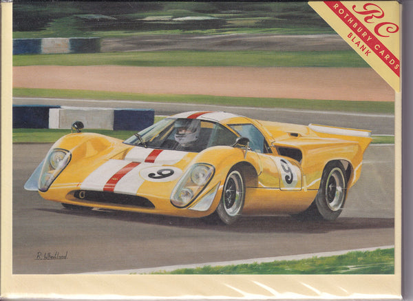 Lola T70 Mk3B Sports Car Greetings Card - Richard Wheatland