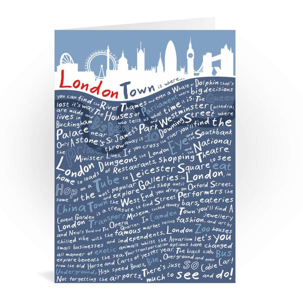 London Town Greetings Card - Tabitha Mary