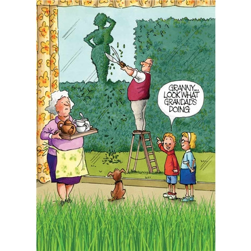 Look At Grandad Greetings Card - Gardeners Weakly
