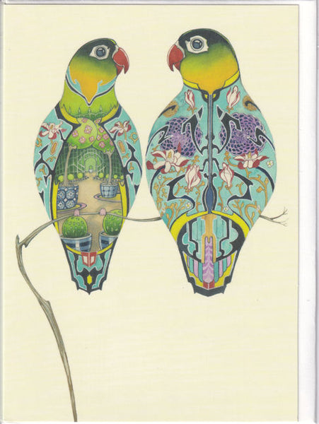 Lovebirds Greetings Card - Daniel Mackie