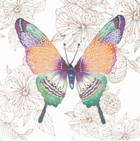Tropical Butterfly Glitter Greetings Card - Nigel Quiney