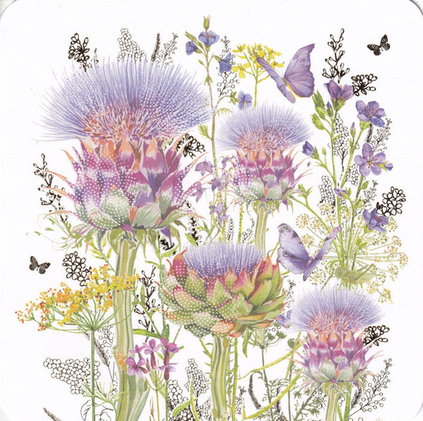 Artichokes Greetings Card - Nigel Quiney
