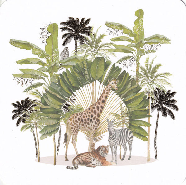 Jungle Animals Greetings Card - Nigel Quiney