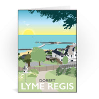 Lyme Regis, Dorset Greetings Card - Tabitha Mary, Lyme Bay, Jurassic Coast