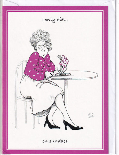 I Only Diet...On Sundaes Greetings Card