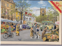 Market Day In Town Greetings Card - Trevor Mitchell