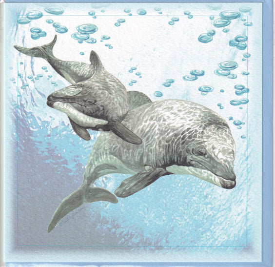Maui Dolphin Greetings Card - Sally Anson