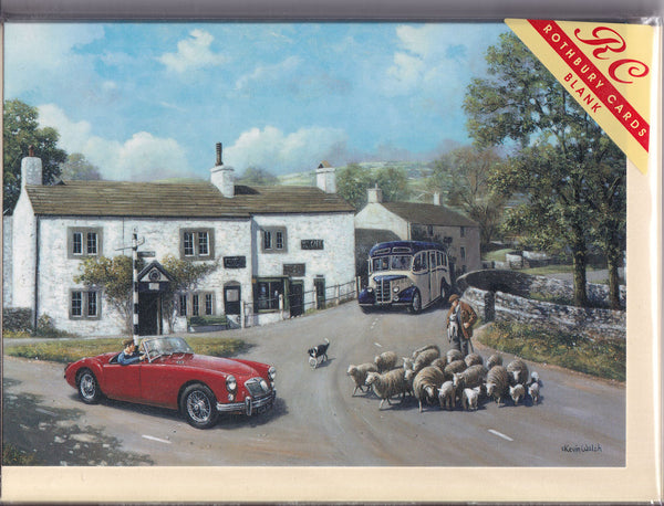 MGA Sports Car At Malham Yorkshire Greetings Card - Kevin Walsh