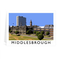 Middlesbrough Greetings Card - Richard O'Neill