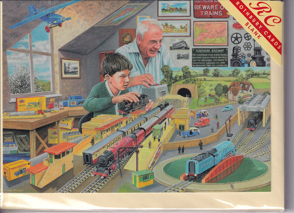 Model Trains Greetings Card - Trevor Mitchell