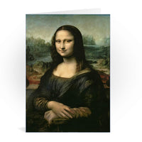Mona Lisa Greetings Card - Leonardo da Vinci