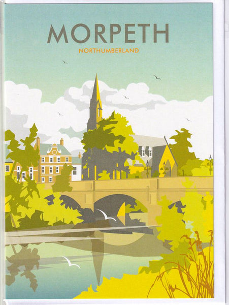 Morpeth Northumberland Greetings Card - Dave Thompson