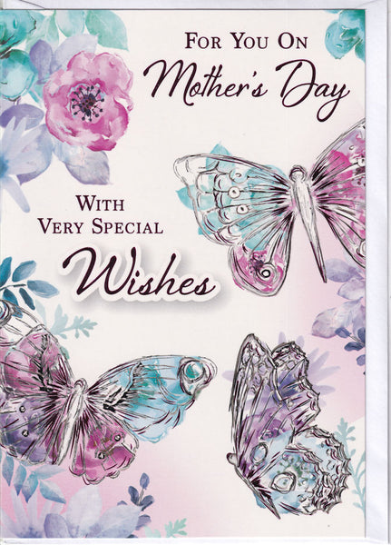 For You On Mother's Day Butterflies Mother's Day Card
