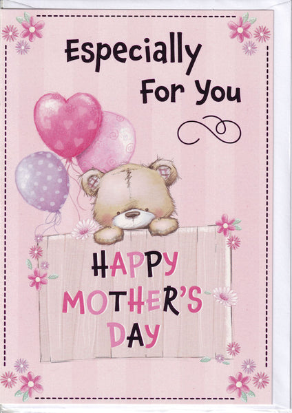 Teddybear Especially For You Happy Mother's Day Card
