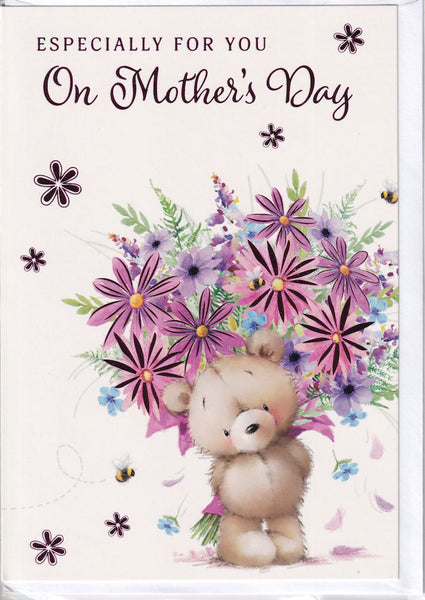 Teddybear Especially For You On Mother's Day Card