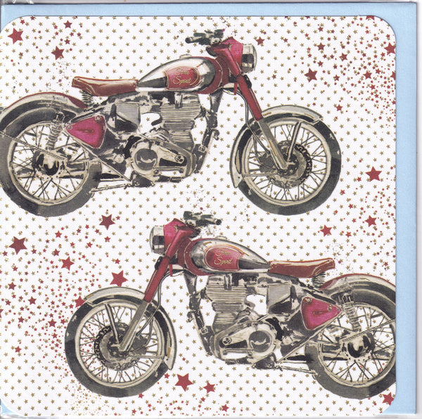 Motorbikes Greetings Card - Nigel Quiney Just For You motorcycles