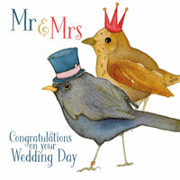 Mr & Mrs Congratulations On Your Wedding Day Greetings Card - Emma Ball