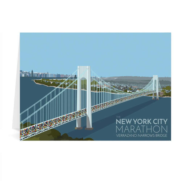 New York City Marathon Greetings Card - Georgina Westley