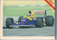 Nigel Mansell Red Five Greetings Card - Paul Whitehouse