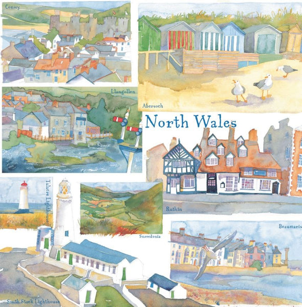 North Wales Watercolour Greetings Card - Emma Ball