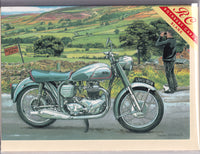 Norton Dominator Motorcycle Greetings Card - Trevor Mitchell