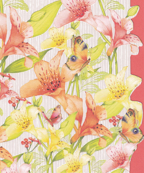 Lily Flowers Greetings Card - Nigel Quiney