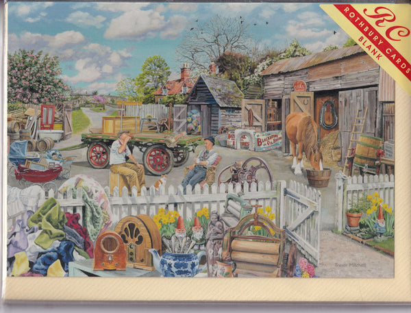 Old Collectables Yard Greetings Card - Trevor Mitchell
