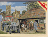 Old Friends Farrier Vintage Tractor Greetings Card - Trevor Mitchell