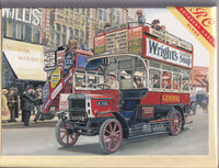 Old London Bus Greetings Card - Trevor Mitchell