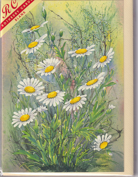 Oxi Daisy Flowers Greetings Card - Linda Mannion