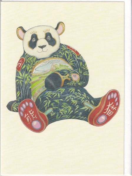 Panda Bear Greetings Card - Daniel Mackie