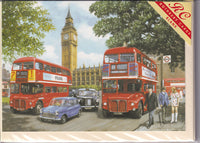 Parliament Square In London Routemaster Bus Greetings Card - Kevin Walsh