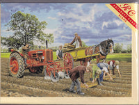 Planting The Potato Crop Greetings Card - Trevor Mitchell