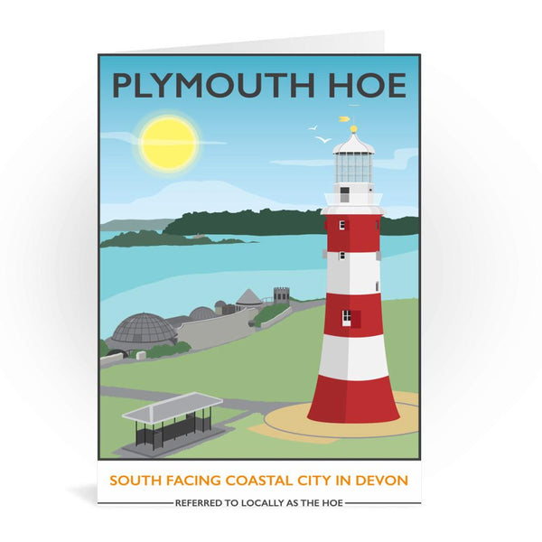 Plymouth Hoe Greetings Card - Tabitha Mary