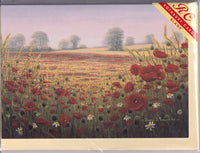 Poppy Fields Greetings Card - David Lawrence