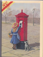 Posting A Letter At The Postbox Greetings Card - Kevin Walsh