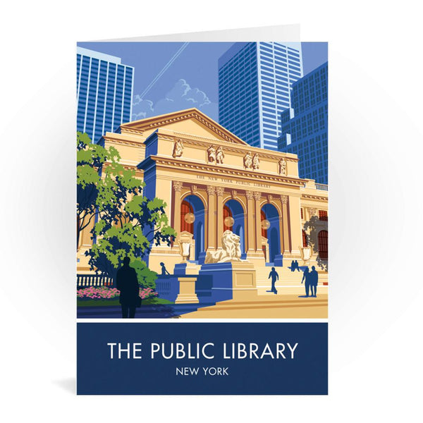 The Public Library New York Greetings Card - Stephen Millership