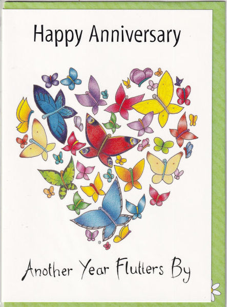 Happy Anniversary Another Year Flutters By Card - The Compost Heap