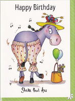Happy Birthday Shake That Ass Donkey Birthday Card - The Compost Heap