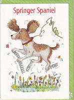 Springer Spaniel Dog Greetings Card - The Compost Heap